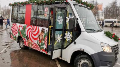 «Новогодний экспресс» вышел на маршруты общественного транспорта в Подмосковье