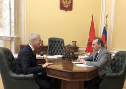 Олег Матыцин и врио главы Мордовии Артём Здунов обсудили вопросы развития спорта в регионе