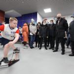 Олег Матыцин посетил спортивные объекты города Кировска Мурманской области