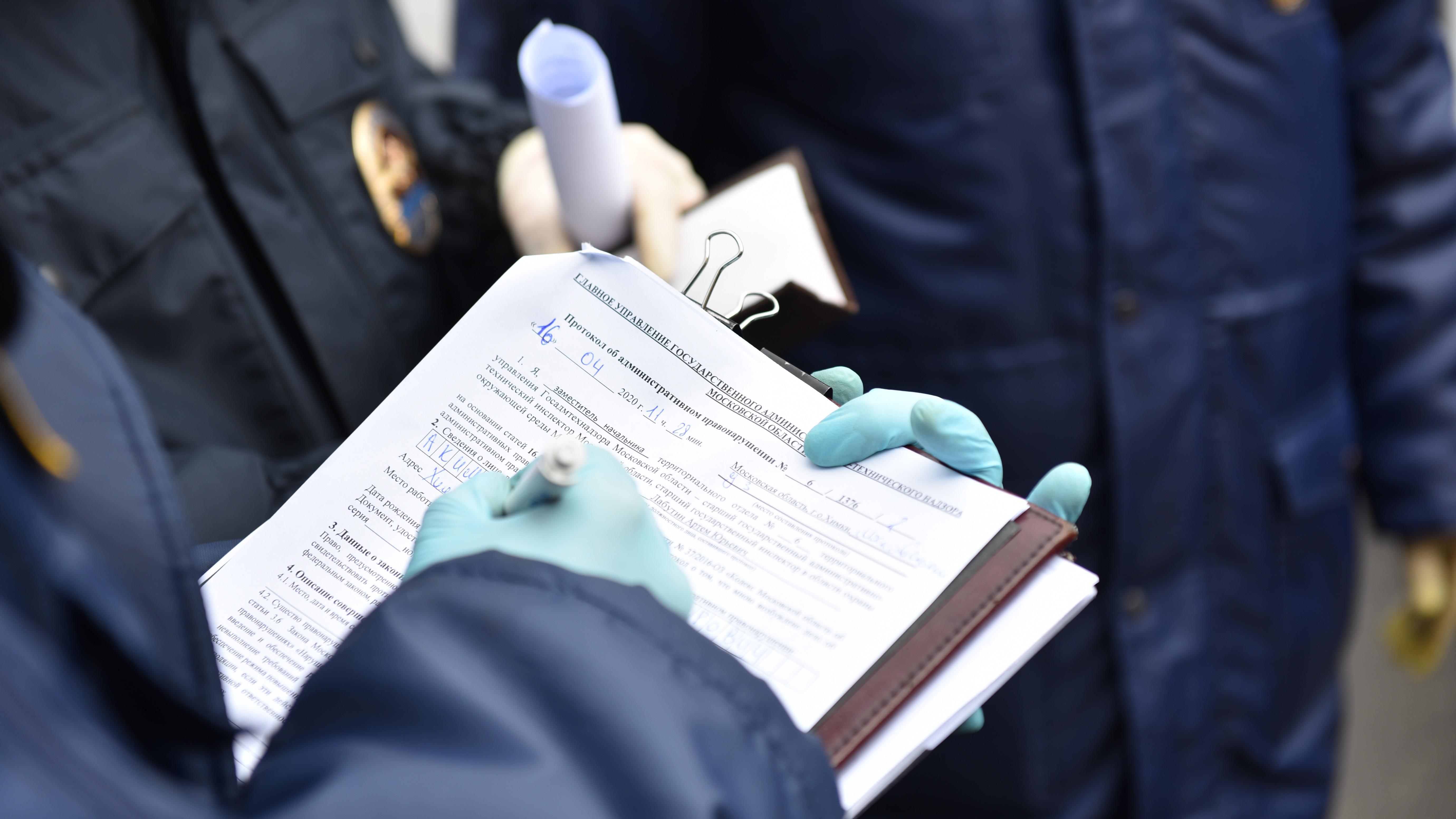 Почти 2,5 тыс. рейдов для пресечения нарушений масочного режима провели в Подмосковье