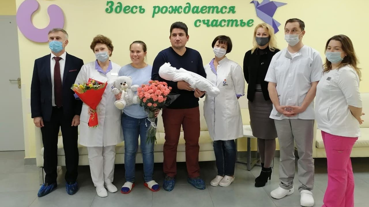 Профессиональная спортсменка Ольга Граф родила первенца в Коломенском перинатальном центре