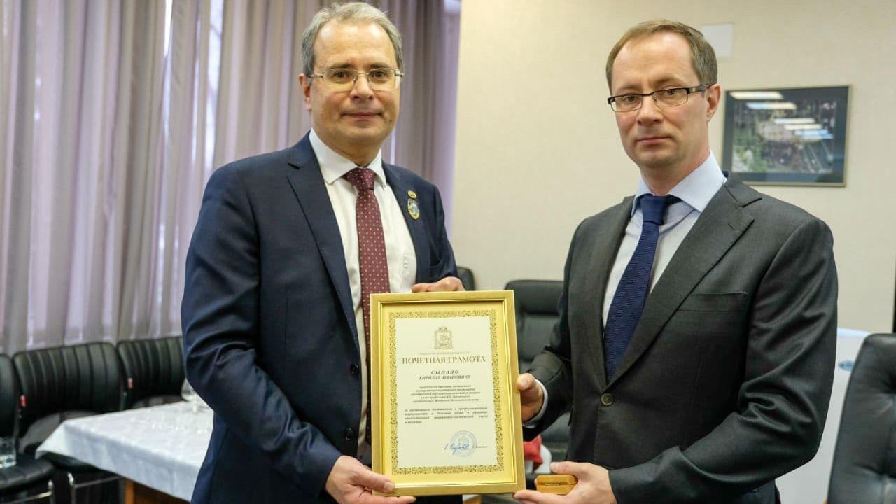 Роман Терюшков поздравил с юбилеем директора ЦАГИ в Жуковском