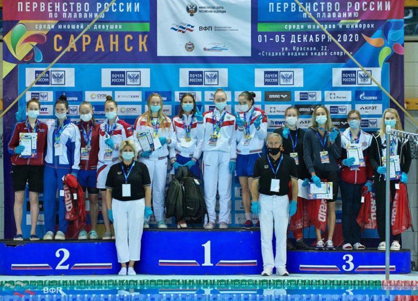 Сборная Московской области завоевала серебряные награды на чемпионате России по плаванию