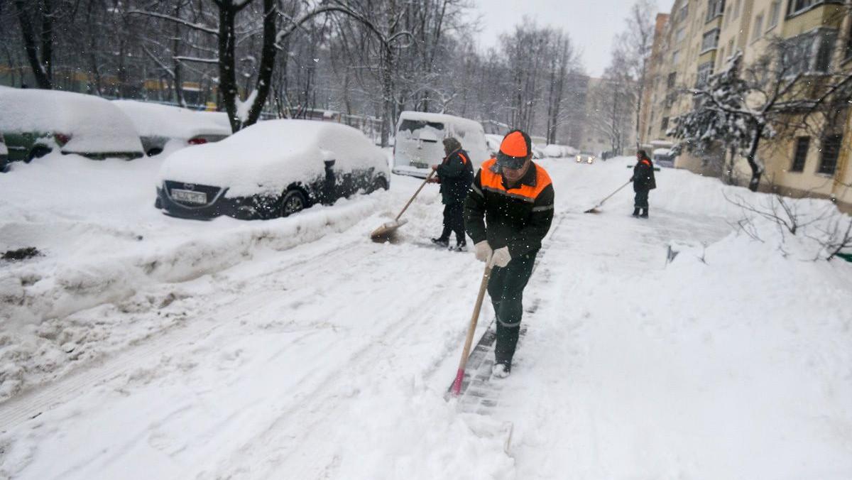 Свыше 10 млн кв. метров территории в Подмосковье очистили от снега и наледи за ночь