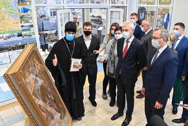 В Калужской области представлена икона «Собор святых воинов, покровителей спорта»
