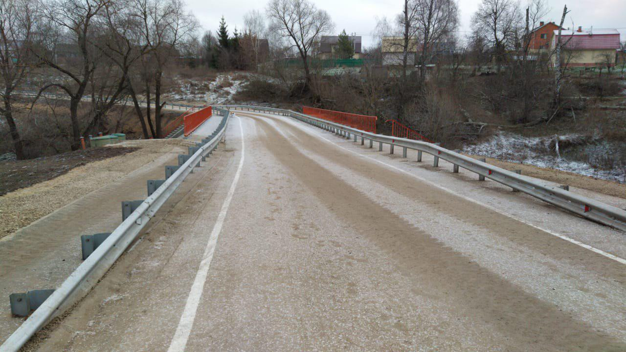 Мостовой переход у села Ивановское капитально отремонтировали в Ступине