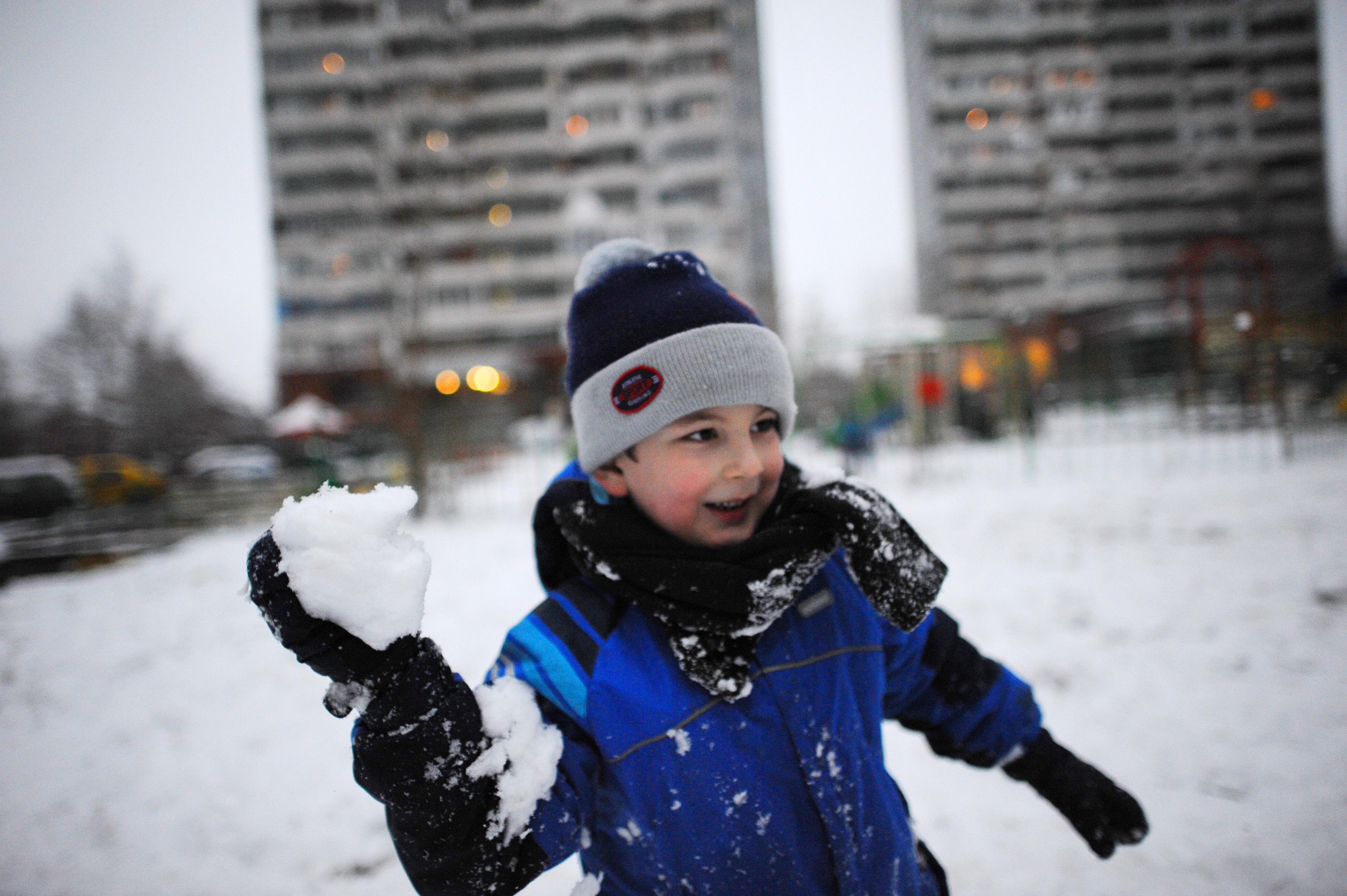 Снегопад в Троицке
