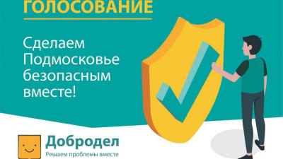 Голосование «Сделаем Подмосковье безопасным вместе» стартовало на «Доброделе»