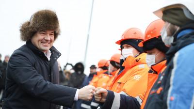 Губернатор открыл рабочее движение на выезде из микрорайона Трехгорка в Одинцове