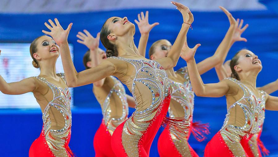 Кубок Московской области по эстетической гимнастике проходит в Раменском