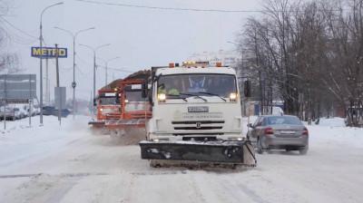 Около 10 тыс. км дорог очистили и обработали реагентами в Подмосковье минувшей ночью