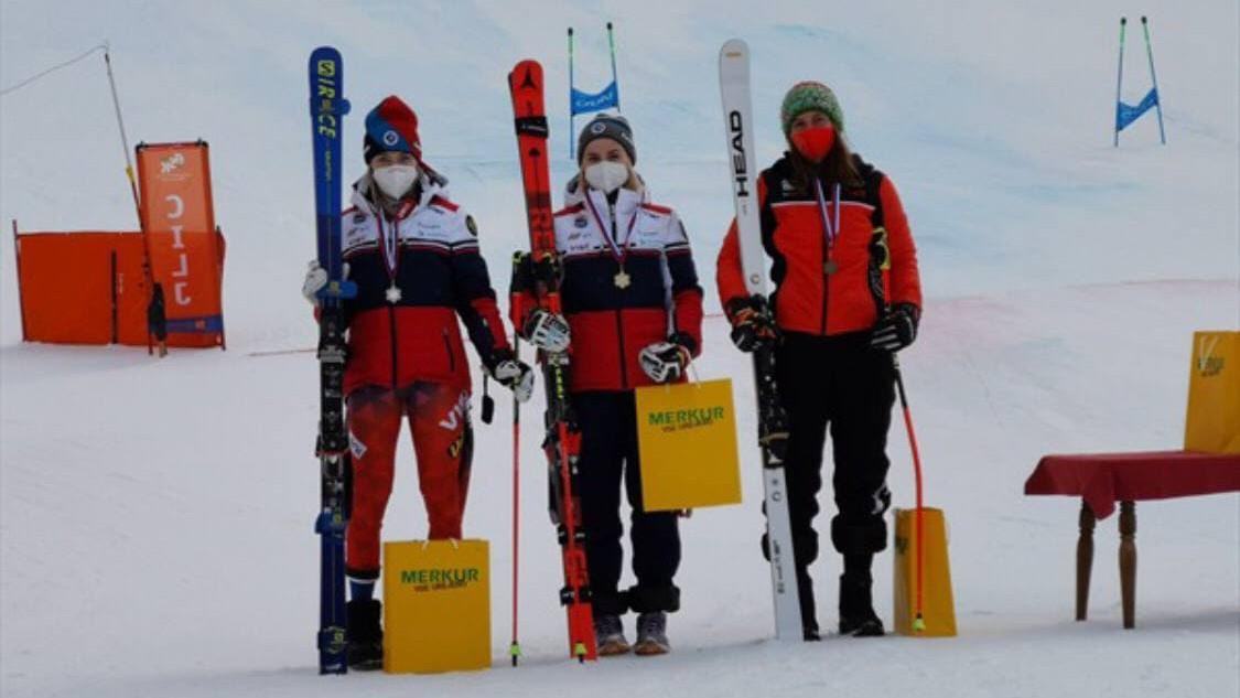 Подмосковная горнолыжница завоевала серебро международных соревнований