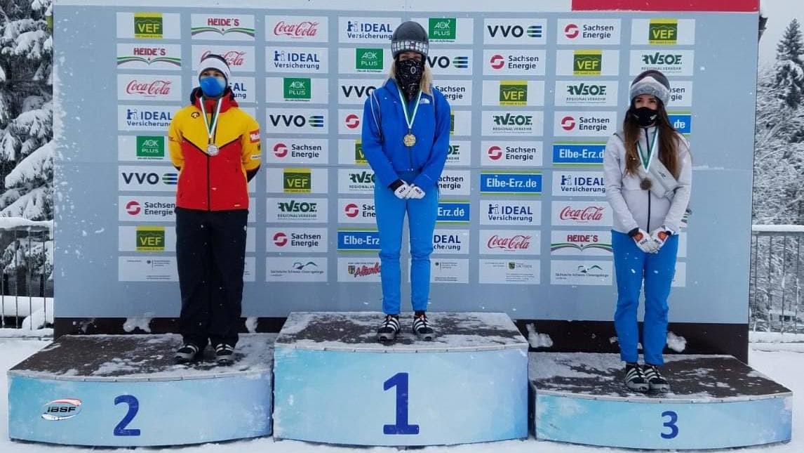 Подмосковная спортсменка завоевала золото интерконтинентального кубка по скелетону