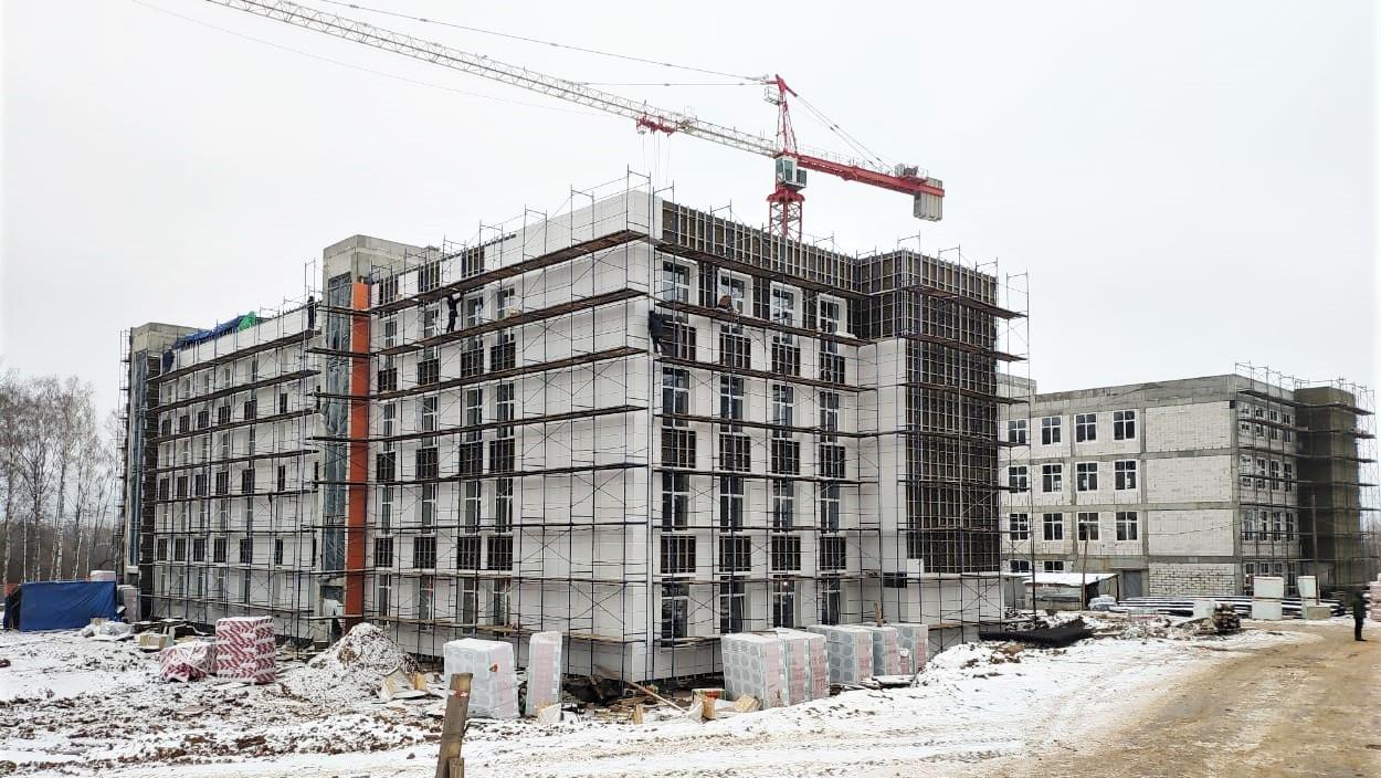 Сильные морозы не повлияют на темп строительства в Московской области