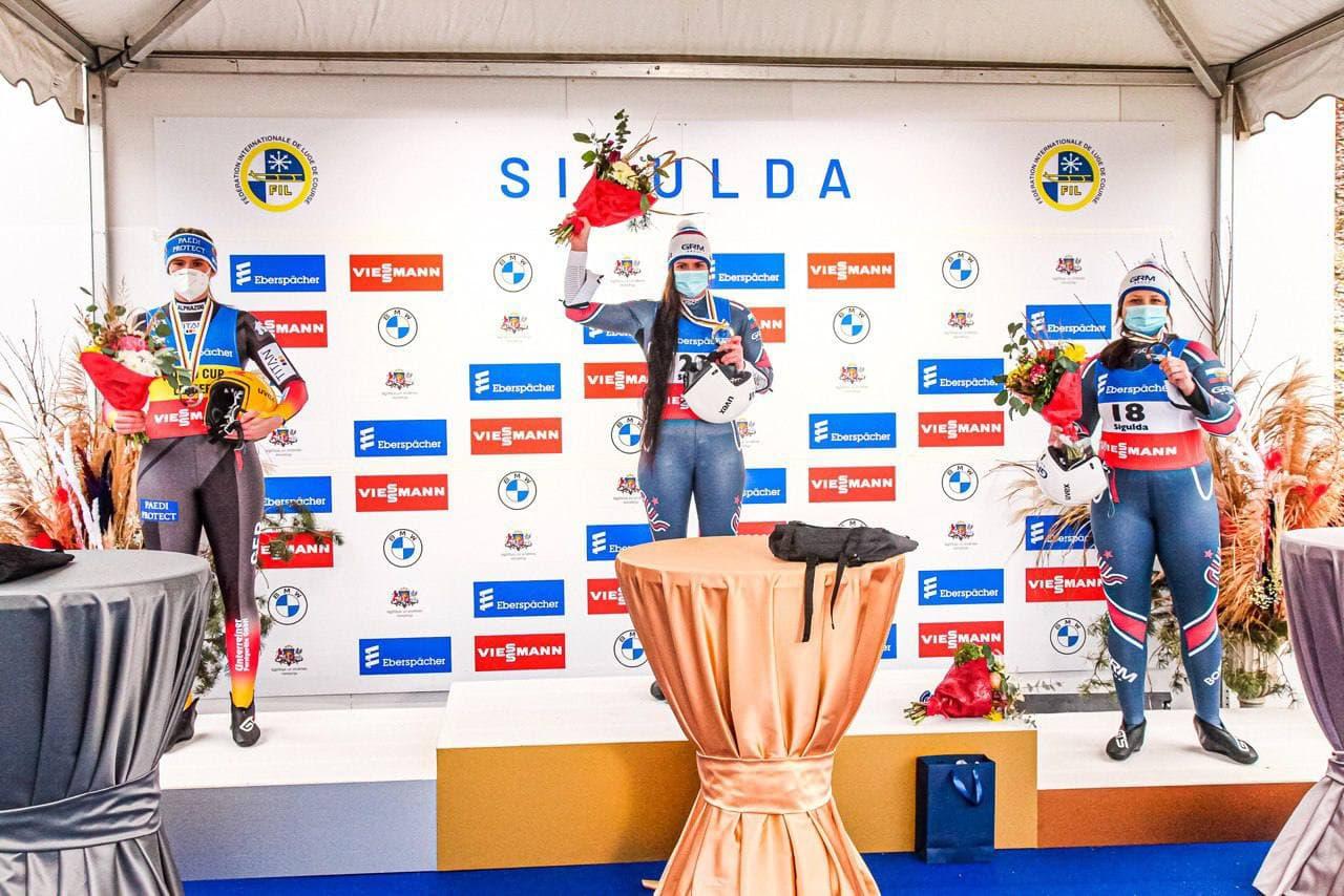 Спортсмены из Московской области завоевали 4 медали на этапе Кубка Мира и чемпионате Европы по санному спорту