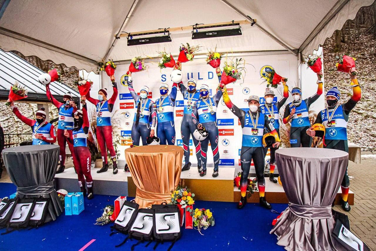 Спортсмены из Московской области завоевали 4 медали на этапе Кубка Мира и чемпионате Европы по санно...