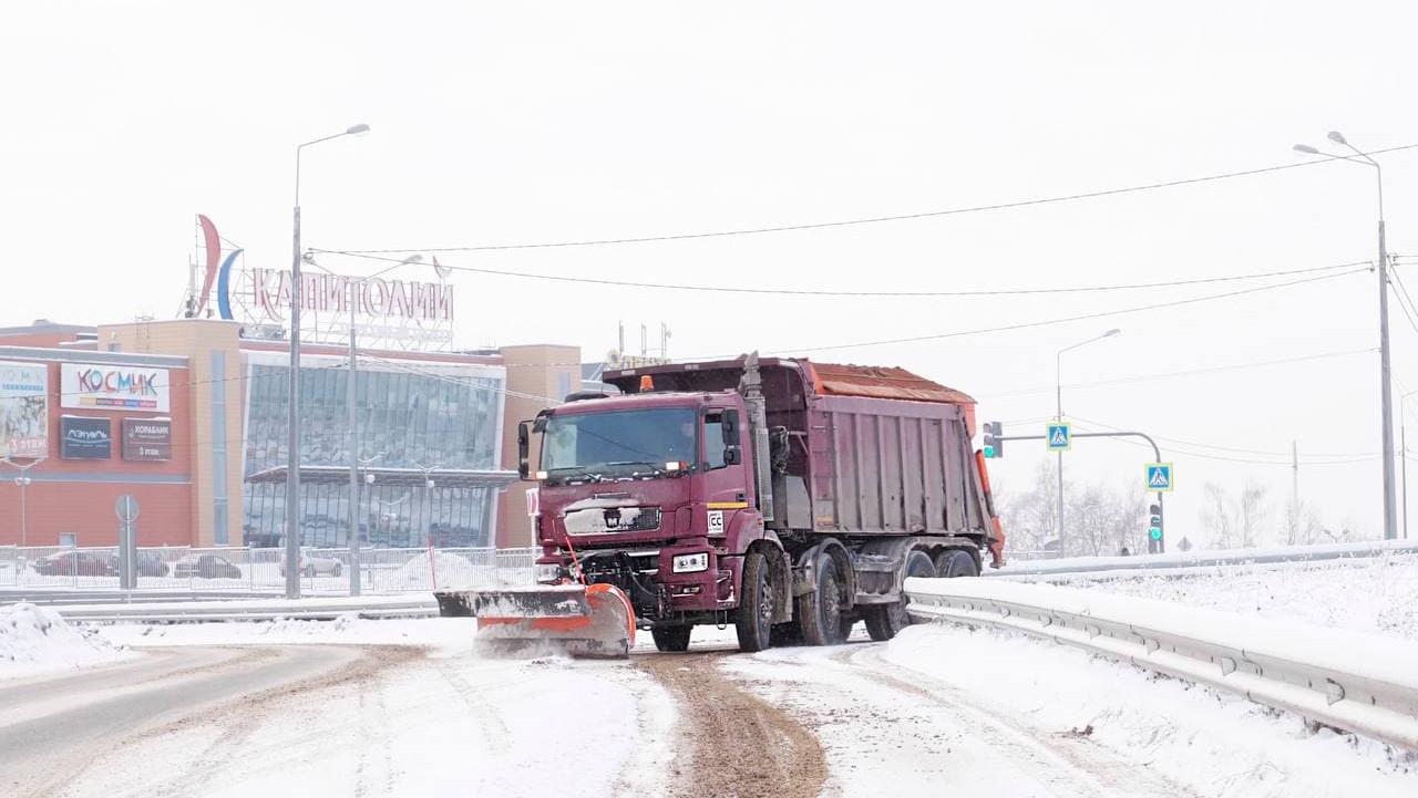 Более 15 тыс. километров дорог очистили в Подмосковье за ночь