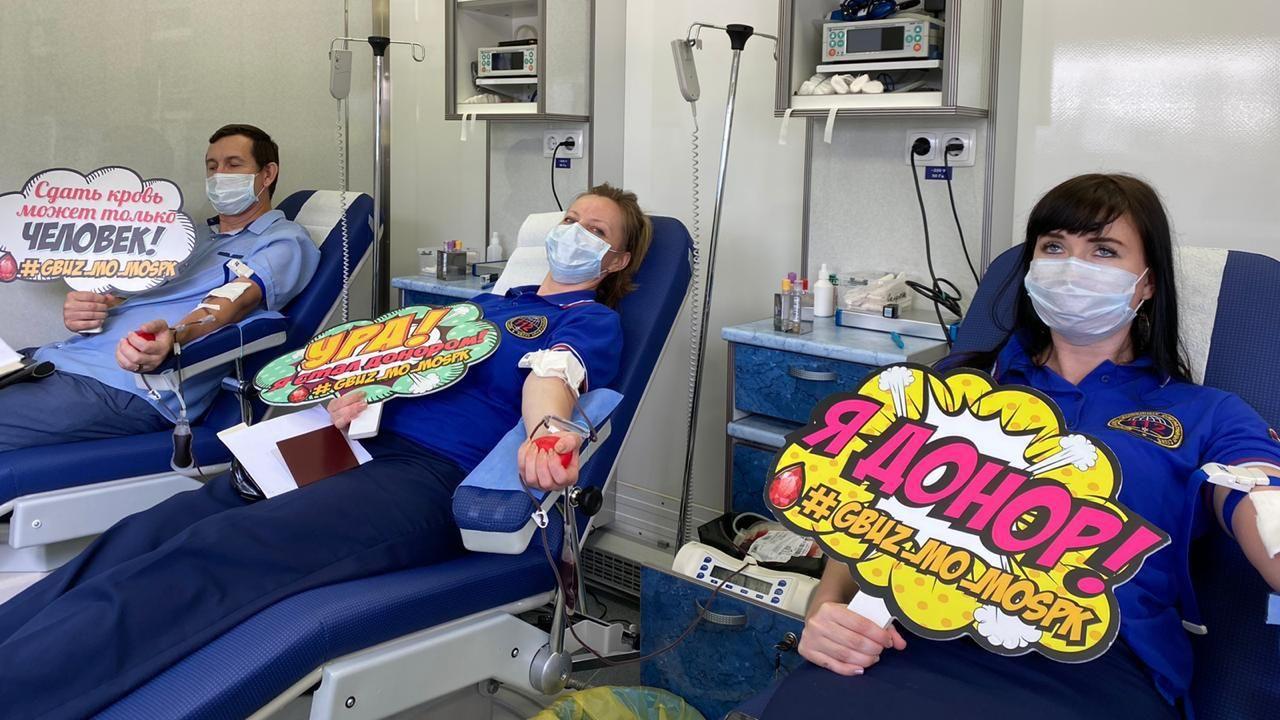 Более 64 тонн донорской крови заготовили в Подмосковье в 2020 году