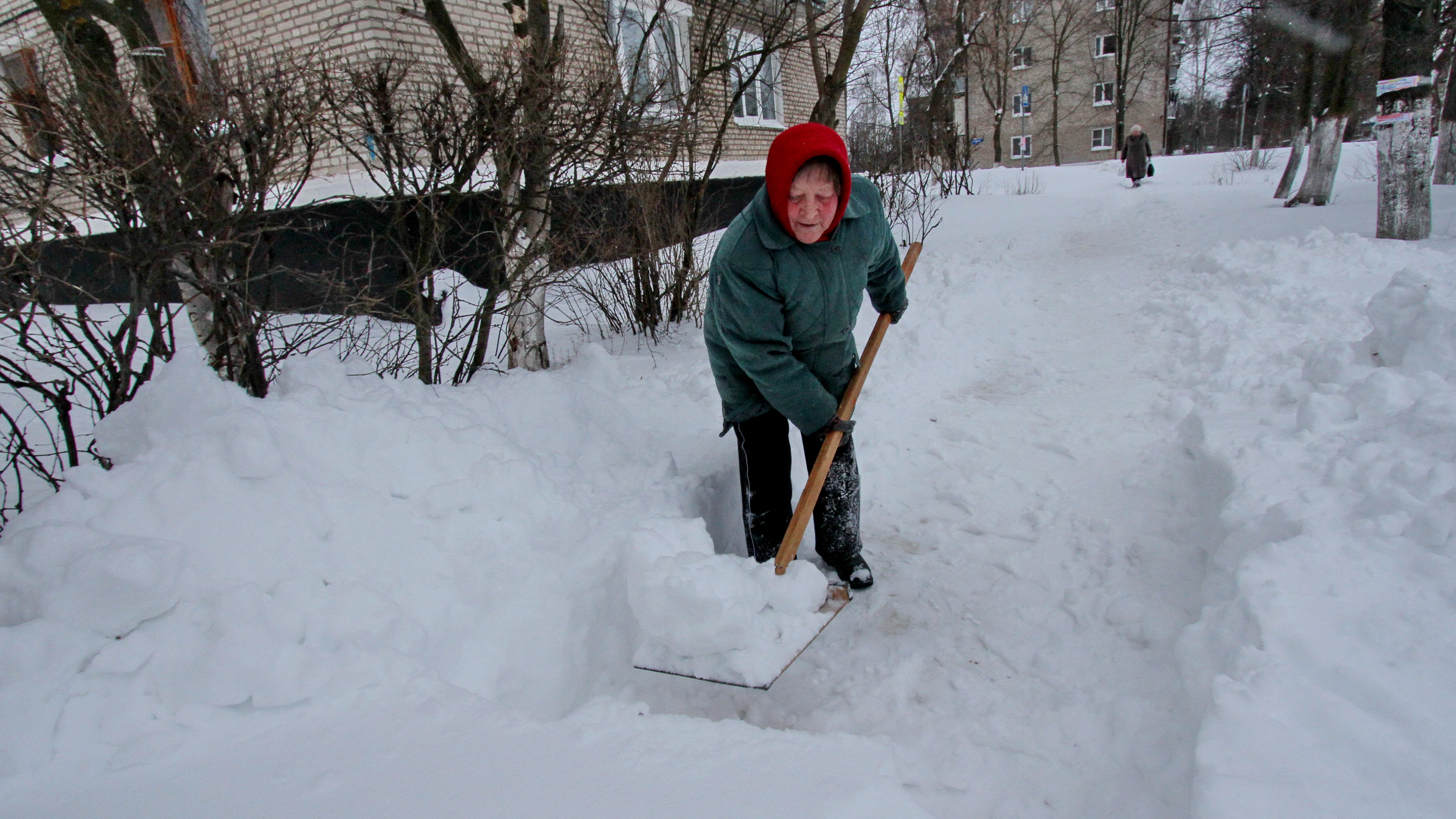Уборка снега в Кашире