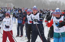 Центральный старт XXXIX открытой Всероссийской массовой лыжной гонки «Лыжня России» прошёл в подмосковных Химках