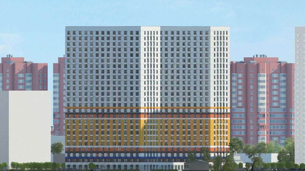 Два многоквартирных жилых дома со встроенной поликлиникой начали строить в Люберцах