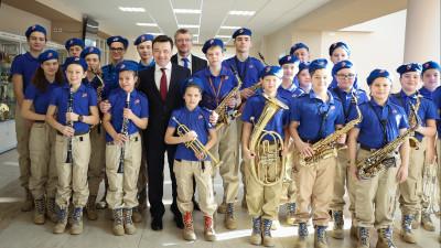 Губернатор поздравил военнослужащих и ветеранов с Днем защитника Отечества в Краснознаменске