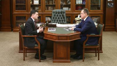 Губернатор провел рабочую встречу с главой Богородского округа