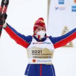 Лыжник Александр Большунов впервые выиграл «золото» Чемпионата мира