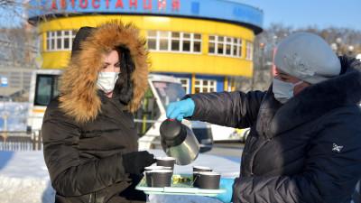 Пассажиры общественного транспорта Подмосковья могут согреться в морозы бесплатным чаем