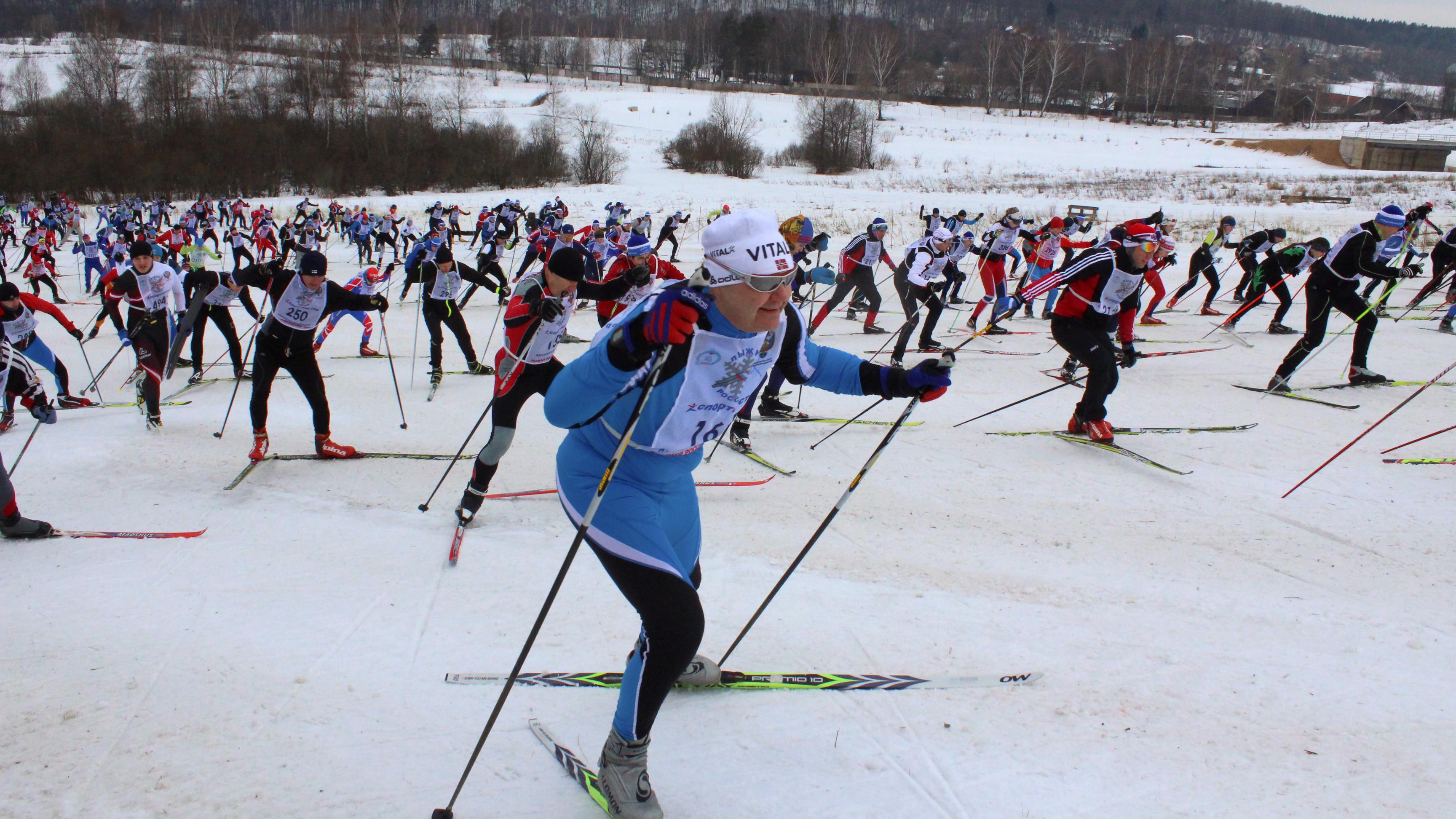 Всероссийская массовая гонка «Лыжня России» в Химках