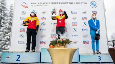 Подмосковная скелетонистка завоевала две бронзы на чемпионате мира