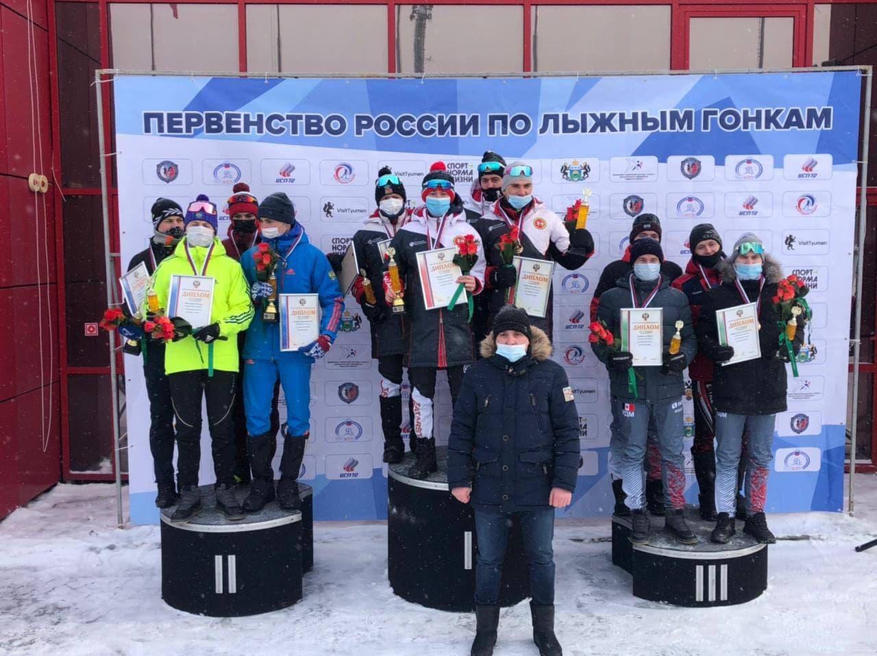 Подмосковные юниоры завоевали золотые и серебряные медали на первенстве России по лыжным гонкам