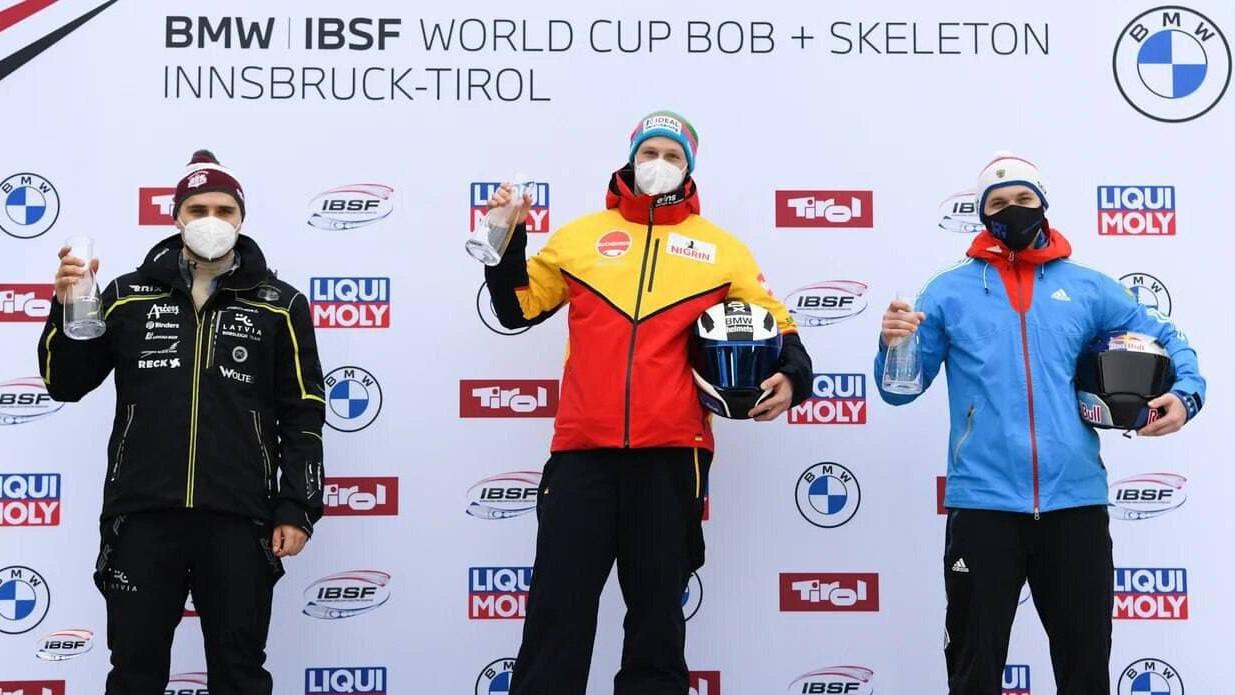 Подмосковный спортсмен завоевал бронзовую награду Кубка мира по бобслею