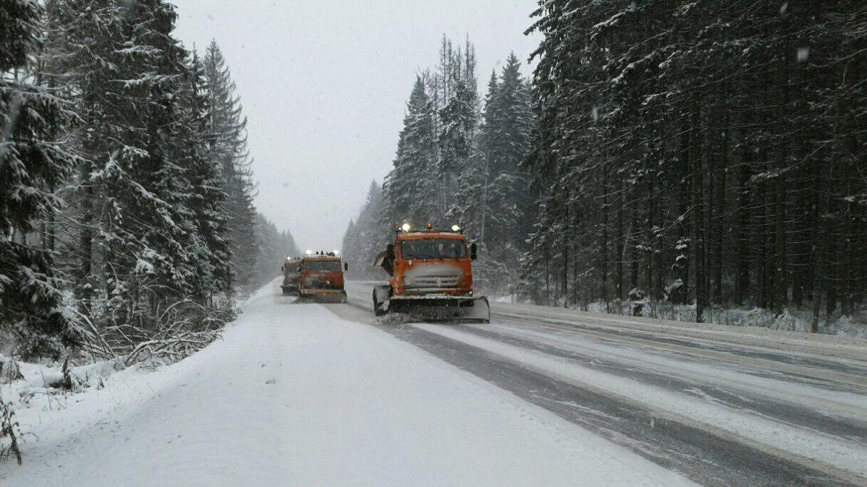 Пробки образовались на магистралях Подмосковья из-за снегопада