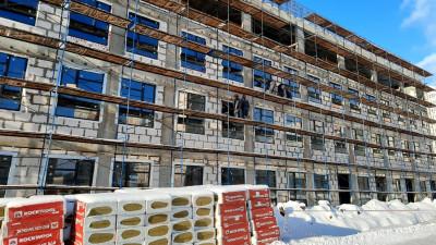 Школа на 1,1 тысячи мест в Подольске готова на 50%