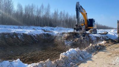 Тридцать свай под опоры путепровода забили в рамках строительства Северного обхода Лобни