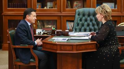 Андрей Воробьев провел рабочую встречу с главой городского округа Электросталь