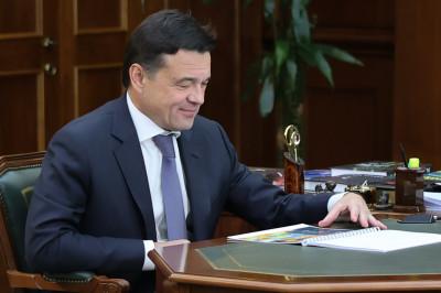 Андрей Воробьев провел рабочую встречу с главой городского округа Кашира