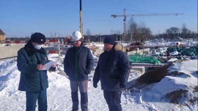 Главгосстройнадзор проверяет ход строительства детского сада в Мытищах
