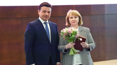 Губернатор наградил жительниц Подмосковья государственными и областными наградами