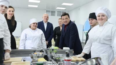 Губернатор проверил организацию учебного процесса в колледже Hilton на базе Красногорского колледжа