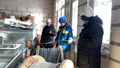 Качество кабельной продукции проверили в строящейся школе в городском округе Фрязино