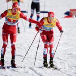 Лыжники Александр Большунов и Глеб Ретивых – бронзовые призёры Чемпионата мира в командном спринте