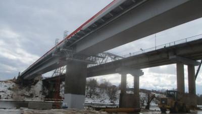 Монтаж железобетонной части пролета Афанасьевского моста завершили в Воскресенске