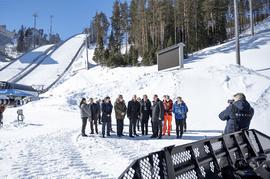 Олег Матыцин посетил соревнования финала Кубка мира по прыжкам на лыжах с трамплина среди женщин в Чайковском