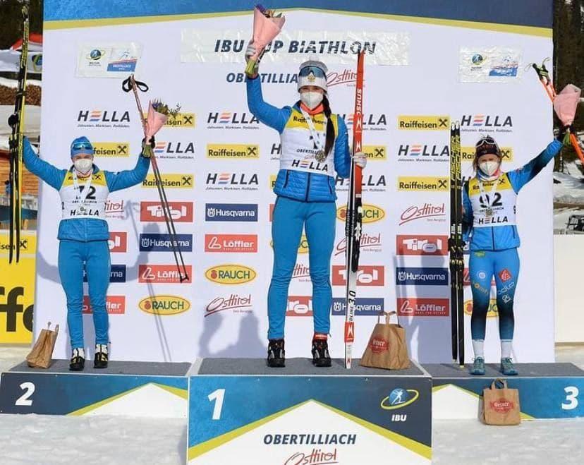 Подмосковная биатлонистка Анастасия Гореева завоевала золото и серебро на этапе Кубка Европы по биат...