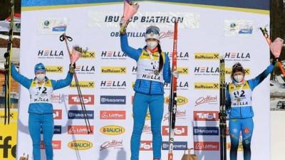 Подмосковная биатлонистка Анастасия Гореева завоевала золото и серебро на этапе Кубка Европы