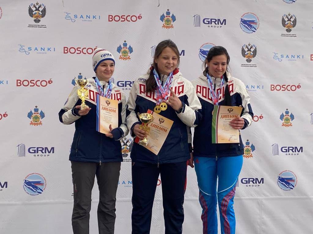 Подмосковные спортсмены завоевали 11 медалей на чемпионате России по санному спорту