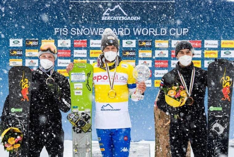 Подмосковный спортсмен занял 3 место в общем зачете этапа Кубка мира по сноуборду