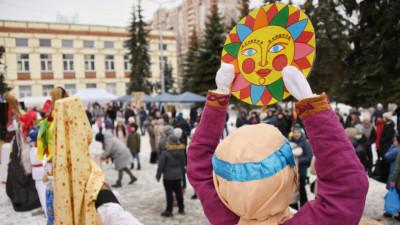 Роман Терюшков посетил народные масленичные гуляния в городском округе Котельники